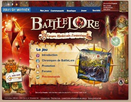 Le site de battlelore est disponible days of wonder - Les chevaliers de la table ronde days of wonder ...