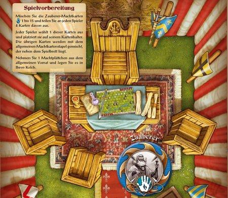 Zauberer Kriegsrat-Tafel