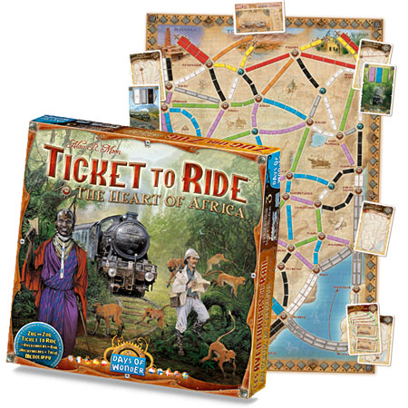 New Ticket to Ride Map Collection – The Heart of Africa « Days of