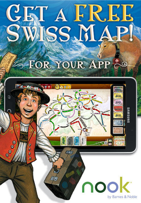 Ticket to Ride on nook