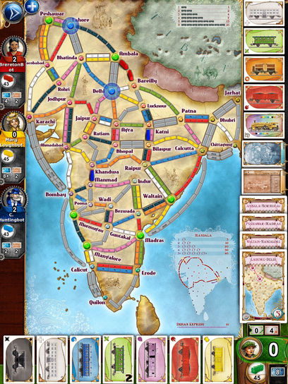 Discover the new version of ticket to ride now days of wonder ticket to ride now supports vertical maps the map india is the first vertical map made available this vertical map brings a new way of playing by gumiabroncs Image collections