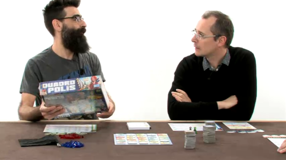 François Gandon, the game designer, explains the rules of Quadropolis
