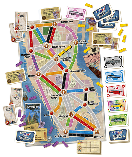 with its quick and compact format ticket to ride new york is fast paced easy to learn in three minutes and extremely portableperfect for new players