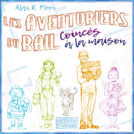 Les Aventuriers du Rail: Coincés à la maison une extension a imprimer gratuitement !